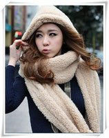 Wholesale Fashion Autumn and winter Women Scarf Hat Gloves Sets Thickening Double Layer Thermal Piece Set Female