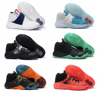 Cheap 2016 Cheap Kyrie Irving Men Basketball Shoes Kyrie 2 Bright Crimson Tie Dye BHM All Star Basketball Sneakers With 1:1 High Quality For Sale