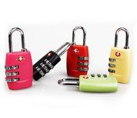 Wholesale TSA Luggage Strap Locks Digit Plastic Alloy Lock Password Customs Luggage Padlock Combination Suitcase Padlock Luggage Travel Lock E160801