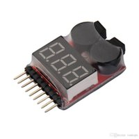 Wholesale 2 in Indicator s RC Lipo Battery voltage Tester low voltage Buzzer Alarm Voltage Indicator DHL Shipping
