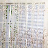 Wholesale Wintersweet Pattern Half Shading Curtain for Door Window Room Decoration Window Screening Pastoral Voile Curtains Bedroom Decor