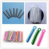 Wholesale 1 Pack Dental ligature ties Dental material Products Orthodontic Elastics Multi color per pack New