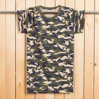 camouflage wholesale - 100 Cotton Men s Short Sleeve Digital Urban Military Camouflage T Shirt