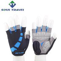 Wholesale Soul Travel Men Washable Half Finger Gloves GUB Bike Cycling Sport Racing Bicycle Glove Mittens Guantes Ciclismo