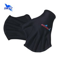 adult swim fins - New Design mm Adult Black Swimming Hand Paddles Summer Men Women Professional Webbed Swimming Gloves Cheap Swim Hand Fins S011