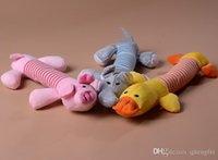 Wholesale Pet Dog Puppy Plush Sound Toys Cute Animals Shape Chew Squeaker Pet Fetch Toys Pet Supplies