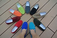 band mint - Hot Sale Men Discount Loafers Neon Color Slip On Canvas Shoes Breathable Flat Casual Shoes Driving Mocassins Plus Size