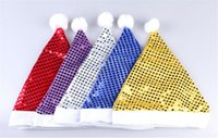 Wholesale 12 Funcy Party Sequin Hats Christmas Santa Soft Glitter Bling Hats