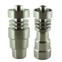 Wholesale Universal Domeless Dab Rig GR2 Titanium Nail in fits mm mm mm Universal Domeless GR2 Titanium Nail mm