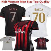ac a dryer - 2016 Shirt AC Milan Soccer Jersey Bacca Bertolacci Romagnoli Bonaventura AC MILAN Home Football Shirt Menez Serie A Maillot Top Quality