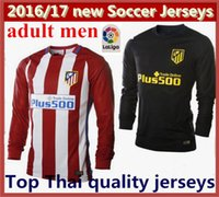 Wholesale Mixed Order La Liga Long Sleeve Atletico Madrid Soccer Jersey Atletico Madrid Football Jerseys Home Away Long Sleeves Shirts
