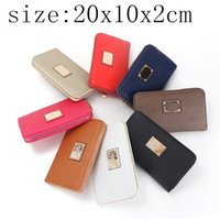 Wholesale new Authentic brand designer Women clutch Wallets Zipper Long Wallet Women Phone Pouch Female Purses
