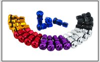 Wholesale 10bag in one RAYS VOLK RACING FORGED ALUMINUM VALVE STEM CAPS WHEELS RIMS UNIVERSAL Blue Silver Black Golden Red Black VR WR11