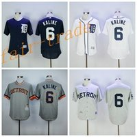 al grey - 1968 Cooperstown Al Kaline Jersey Flexbase Detroit Tigers Al Kaline Baseball Jerseys Throwback Grey Pullover Blue With Hall of Fame