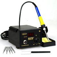 Wholesale 937D Soldering Station JP Heater Iron Welding Solder SMD Tool Tips Rework ESD