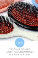 Wholesale Mason Hair Brush with Massage Paddle Comb Boar Bristles Mix Nylon Hair Comb Brush Barber Brush Hair Extension Brush
