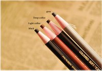 Wholesale Eyebrow pencil is not dizzy catch easy colored waterproof eyeliner Colour makeup plastic pen drawing eyebrow pencil Cosmetics