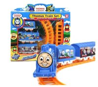 battery train set - Mini Motorized Battery Train Track Orbital Electric Train Rail Car Baby Children Railway Train Set Toy