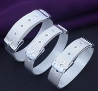 Wholesale Europe Hot silver bracelets silver chain bracelet European and American fashion personalized watches