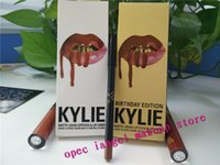 Wholesale KYLIE JENNER LIP KIT Kylie Matte Liquid Lipstick colors Avaialable Kylie Birthday Edition golden kit color LEO DHL