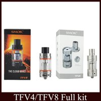 Wholesale SMOK TFV4 TFV8 Cloud Beast Tank atomizer Full Kit ml Top Refill Adjustable airflow Sub Ohm coils For thread Box Mod