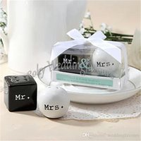 beach favor ideas - sets Ceramic Mr Mrs Salt and Pepper Shakers Wedding Shower Favors Beach Wedding Favors Wedding Gifts Ideas