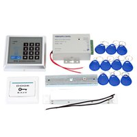 Wholesale Full RFID Door Access Control System Kit Set Electric Magnetic Lock Access Control Power Supply Proximity Door Entry keypad