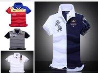 Wholesale New air force one Top Quality embroidery men s Aeronautica militare Men Shirts Brand POLO diamond Fashion shark clothing