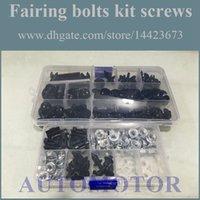 Cheap Fairing Screw Bolts Kit black For HONDA CBR600F2 91-94 CBR 600F2 CBR600 600 F2 91 92 93 94 1991 1992 1993 1994 Fairings Bolts Screws