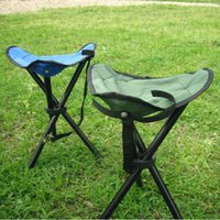 Wholesale Smallest Portable Stool - Outdoor Hiking Fishing Portable Pocket Folding Chair Small Stool With 3 Legs Camping Hiking Fishing Stool Picnic BBQ Chair PP
