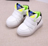 Wholesale 2016 Children Kids Shoes With Light New Spring Net Breathable Boys Fashion Sneakers Chaussure Led Enfant Sport Running Girls Shoes