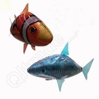 Wholesale Finding Nemo Remote Control Toys Sharks clown fish nemo Flying Fish Inflatable Plaything for kids children gifts OOA153