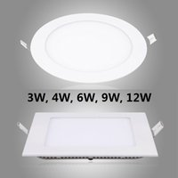 aluminum ce certification - 10PCS W W W W W V V CE RoHs Certification Super thin LED Panel Light recessed LED Downlight