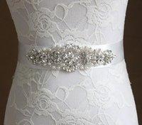 Wholesale New Glaring Crystals Wedding Sashes Rhinestone Bridal Belts Bead Sash Ribbon Belt Bridal Accessories