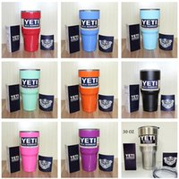 Wholesale 2016 Hot Popular YETI Rambler Tumbler oz YETI Cups Cars Beer Mug ML Large Capacity Mug Yeti Bilayer Stainless Steel Cup
