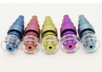 Wholesale 6 in quartz bowl titanium nail colors Domeless GR2 Titanium Nail both mm mm mm male and female joint