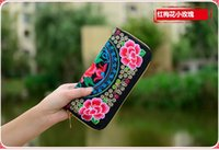 Wholesale Chinese style ethnic embroidery women wallet for evening party with various colors