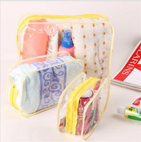 Wholesale 2016 Muti Function clear transparent waterproof PVC cosmetic bag Zip seal Travel outdoor Storage organizer bags pouch dustproof wash bag hot