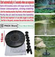 Wholesale V Solar Power Floating Brushless Water Pump Garden Landscape Submersible Fountain highly efficient solar panel