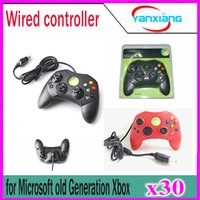 Wholesale 30pcs Wired Controller S Type A for Microsoft Old Generation Xbox Console Video Game YX XBOX
