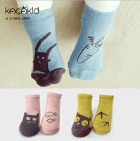 6-12Mos baby rats - unisex baby cotton socks floor anti slip baby boys girls socks kids children newborn animal owl cat rat bear slipper socks HJIA791