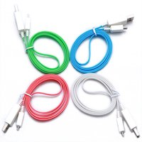 android ups - LED USB Cable Luminous Visible Current Glowing Light up Charging Cable Feets Micro USB Cable for Android Phones Data
