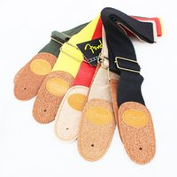 Wholesale Color leather Polyester Guitar Strap Widening Suitable for Folk Guitar Electric Guitar Electric Bass Adjustable back Strap