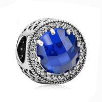 al por mayor hacer 925 pulsera de plata-El encanto radiante cristalino original de los corazones del zircon se adapta a pulseras de los encantos de Pandora 925 pulseras de la joyería de las mujeres de los granos DIY de la plata esterlina Make
