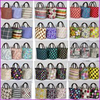 Wholesale Portabl Nylon Travel Picnic Thermal Food Lunch Bags Tote Waterproof Carry Bag Organizer for Women kids