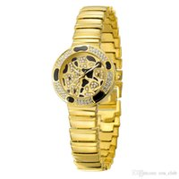 accurate glass - Wristwatches For Alloy China fashion women watch waterproof circular glass golden white rose gold Keep accurate time