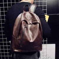 Wholesale New men s small backpack backpack Korean female male bag student bag bag PU leather casual computer bag