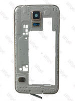 backing for frames - Gold For Samsung Galaxy S5 G900H G900F Middle Frame Housing Replacement Back Chassis Frame Bezel for Galaxy G900F G900H