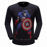 Wholesale 2016 New Autumn Fashion Brand PHILIP PLEIN Casual Sweater O Neck Letter Print Slim Fit Knitting Mens Sweaters And Pullovers Men PP