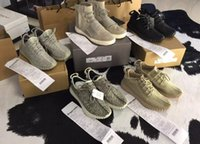 air tan - With Box Receipt Air Boost Shoes Kanye quot Pirate Black quot Moonrock Oxford Tan Running Shoes Men Sneakers